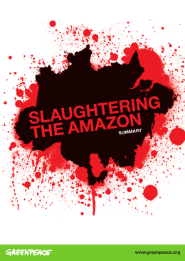 SLAUGHTERING THE AMAZON