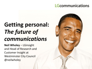 Getting personal - The future of communications