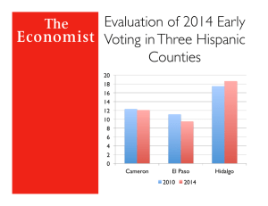 Evaluation of 2014 Early Voting in Three Hispanic Counties