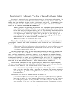 Revelation 20: Judgment: The End of Satan, Death, and Hades PDF