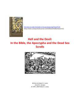 Hell and the Devil - Christian History & Theology Adult Sunday