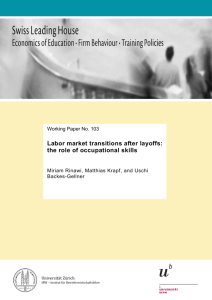 Labor market transitions after layoffs: the role of occupational skills