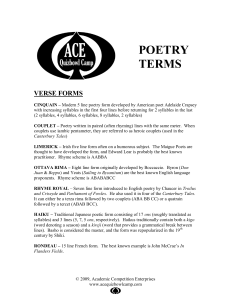 Poetry Terms By Ace