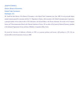 Joseph Farrell - Federal Reserve Bank of Kansas City