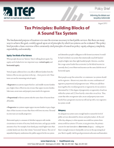 Tax Principles: Building Blocks of A Sound Tax System
