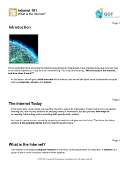 Internet 101: What is the Internet?