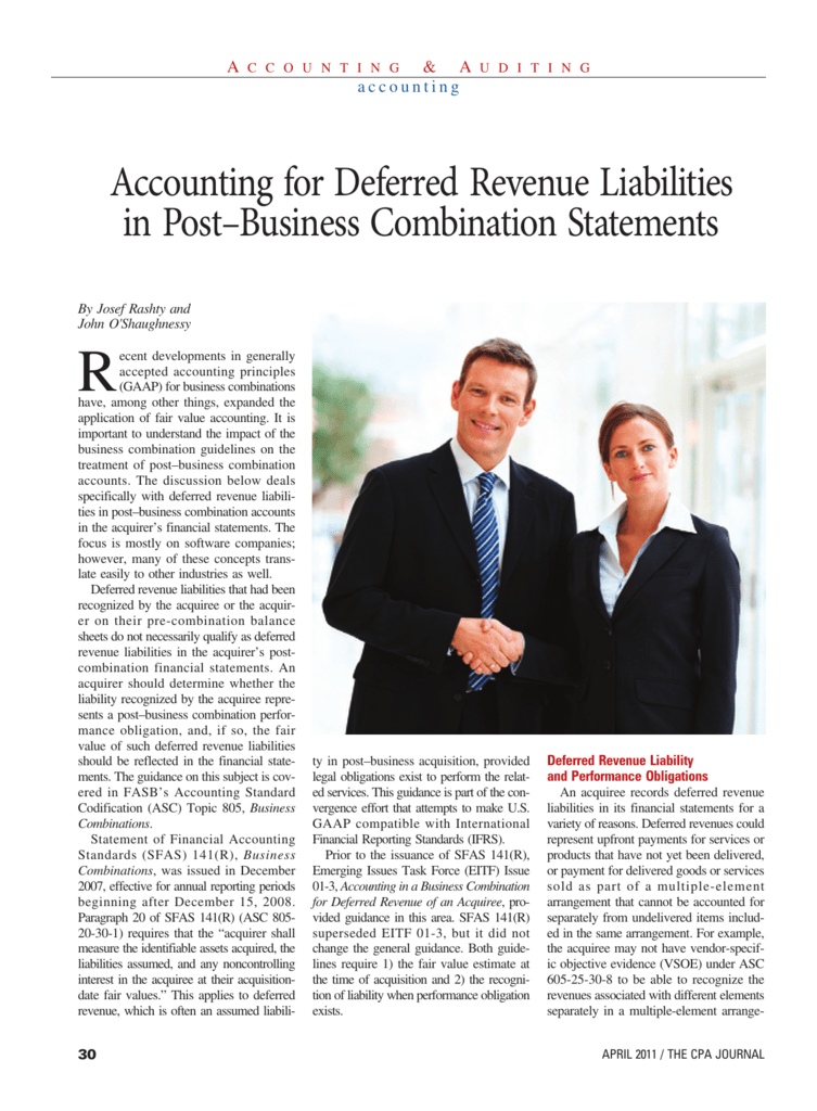 Accounting for Deferred Revenue Liabilities in Post