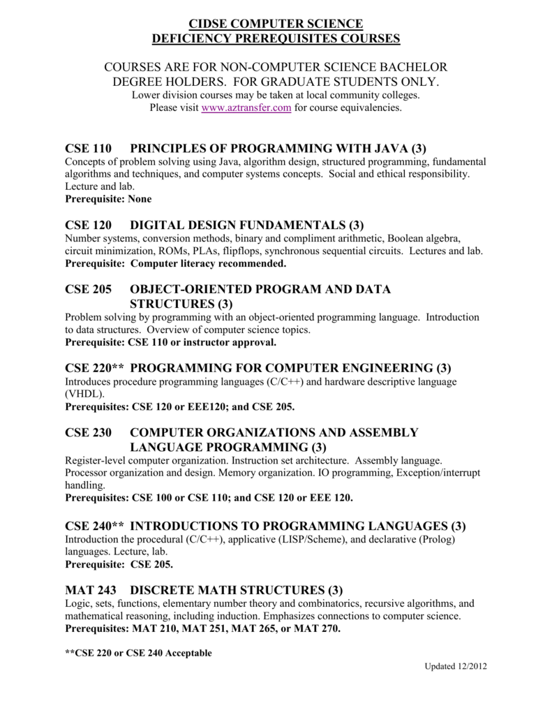 Courses For Non Computer Science Bachelor