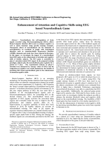 Enhancement of Attention and Cognitive Skills Using EEG Based