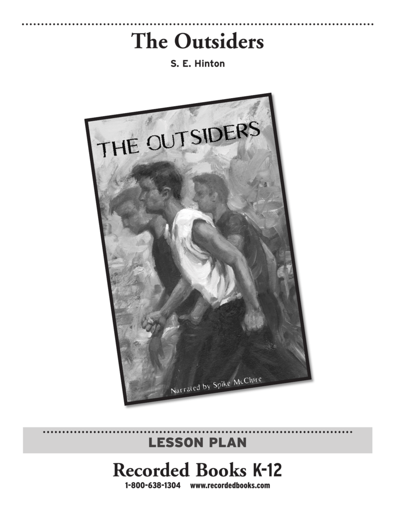 an examination of se hintons novel the outsiders In se hinton's novel, 'the outsiders' the socs were more of a disgrace and menace to society than the greasers because they knew that they were better off.