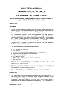 Part 4e appendix - Rules - Protocol External Funding