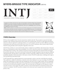 intj - Adaptive Structure