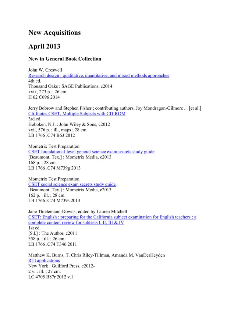 April 2013 - Touro University California Library