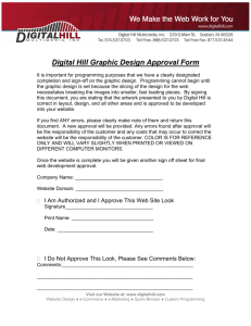 Digital Hill Graphic Design Approval Form