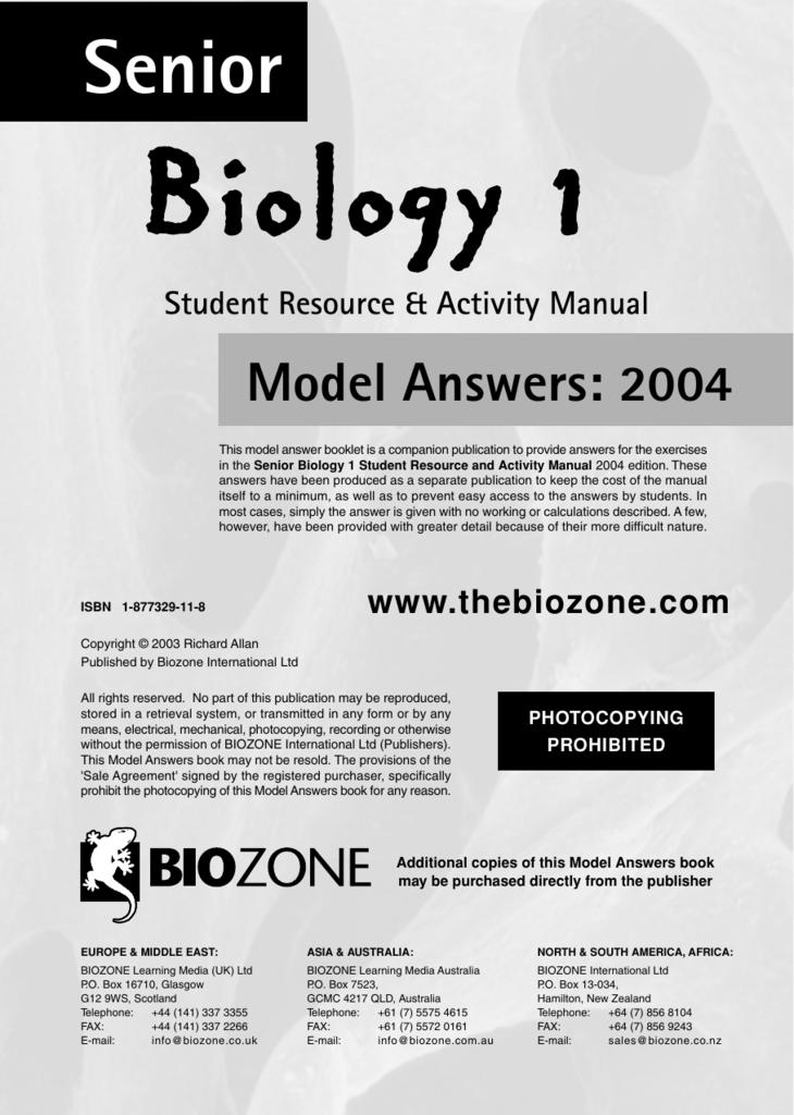case study catalase activity biozone