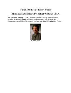 Winter 2007 Event - Robert Winter Alpha Association Hears Dr