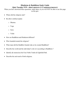 Hinduism & Buddhism Study Guide