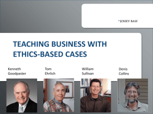 teaching business with ethics-based cases