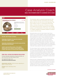 Case Analysis Coach