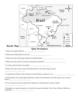 Brazil: Map Quiz Worksheet