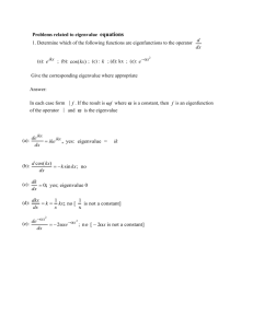 Eigenvalue Equations
