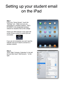 adding your student email to your ipad