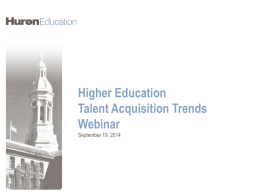 Higher Education Talent Acquisition Trends Webinar