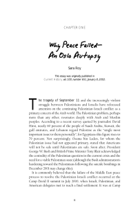 Why Peace Failed— An Oslo Autopsy