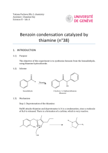 Benzoin condensation catalyzed by thiamine (n°38)