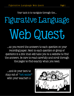 Figurative Language Web Quest