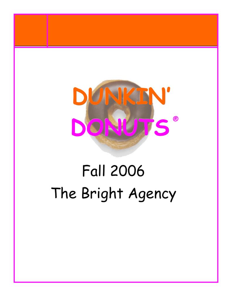 f16dd06f8cb Dunkin' Donuts Media Plan