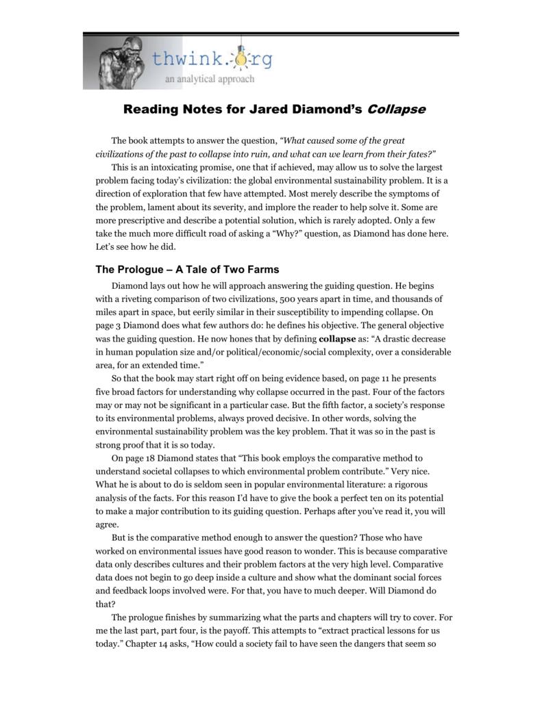 Collapse Jared Diamond Book