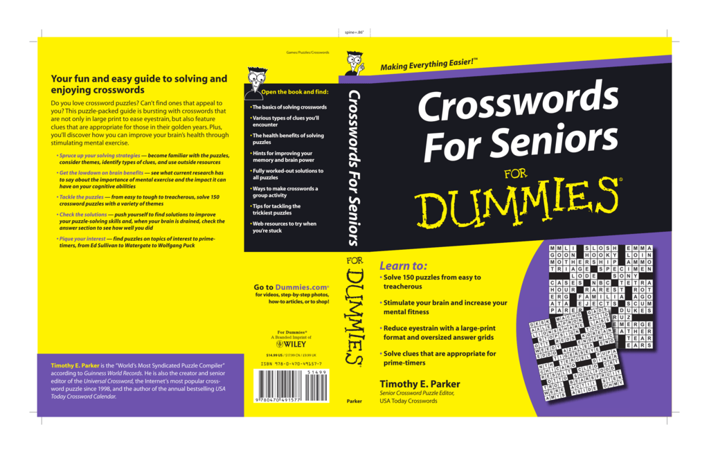"397d5188f41 spine .86"" Games Puzzles Crosswords g Easier! Making Everythin Do you love  crossword puzzles  Can t find ones that appeal to you  This puzzle-packed  guide ..."