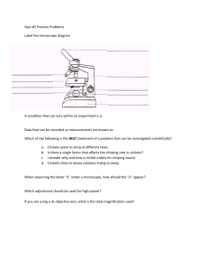 Quiz #2 Practice Problems Label the microscope diagram A