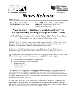 News Release - Pierce County Library