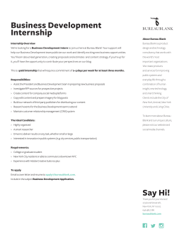Business Development Internship