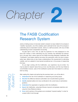 The FASB Codification Research System Learning Objectives