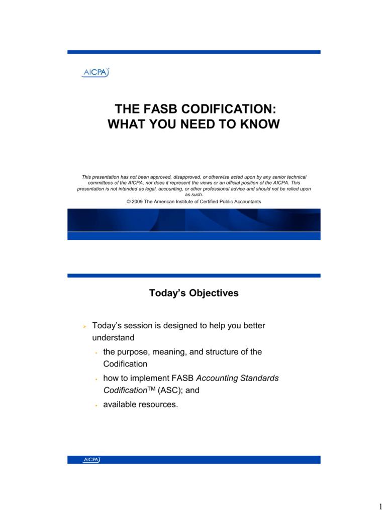 fasb codification system