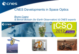 CNES Presentation of Preparatory Activities to Optical Instrument