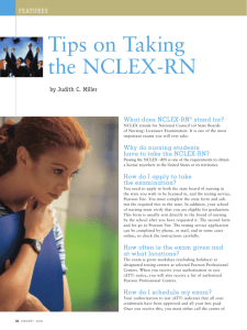Tips on Taking the NCLEX-RN - National Student Nurses Association