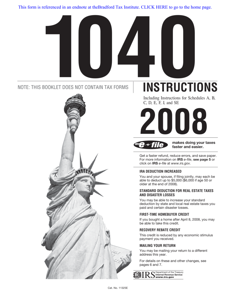 Irs Form 1040 Instructions