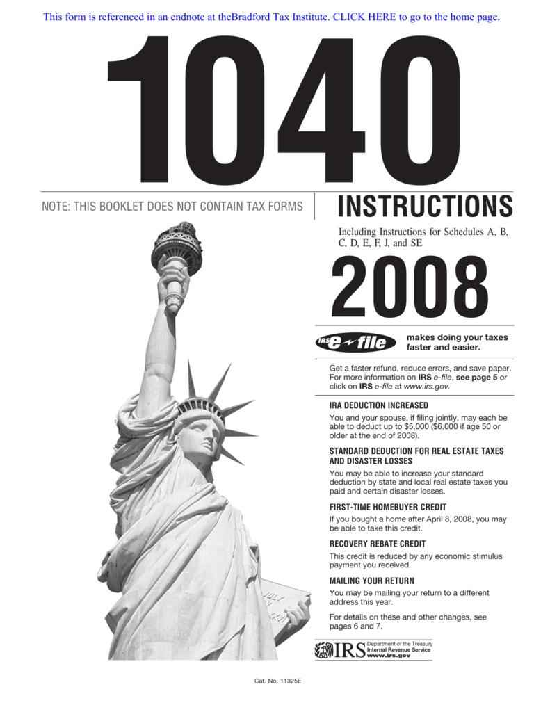 Irs form 1040 instructions falaconquin