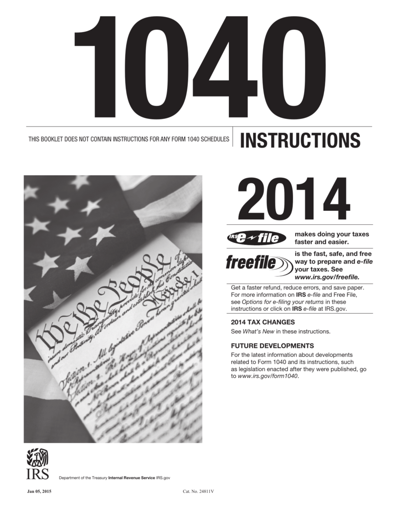 Form 1040 Instructions