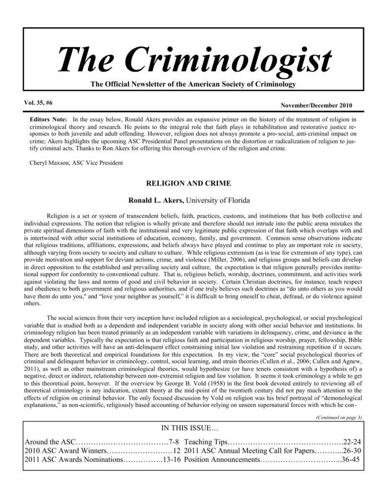 The Criminologist - American Society of Criminology on example of feelings, example of curriculum vitae, example of home network, example of article, example of c.v, example of topic sentence, example of academic paper, example of ad copy, example of lab report, some examples of cover letter, example of cv, types of application letter, example certification letter, example of short report, example of notice of appeal, example of resume, example of training curriculum, example of product specification, introduction letter, example of transcript of records,