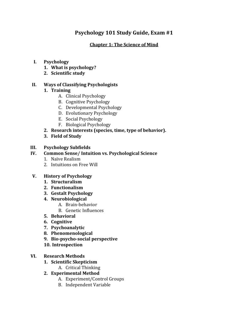 Information to Psychoanalysis Psych 101 Study Help