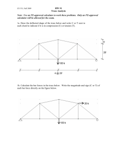 HW #1 Truss Analysis Note: Use an FE