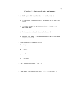 Worksheet 3.7: Derivative Practice and Summary