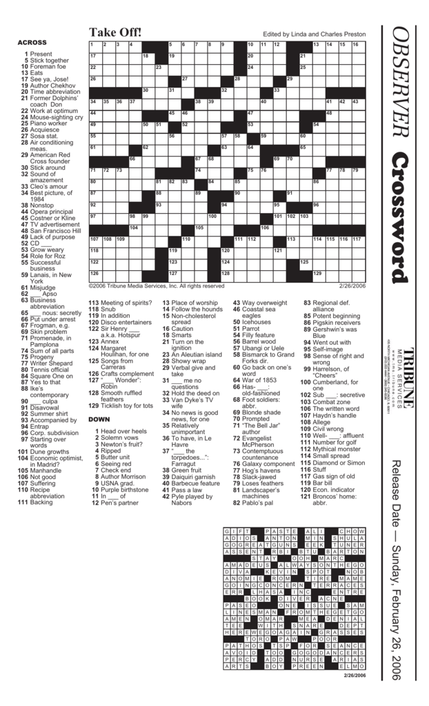 Crossword Paperpen Com