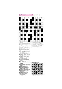 Quick crossword no 12531