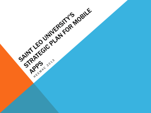 Saint Leo University's Strategic Plan for Mobile Apps